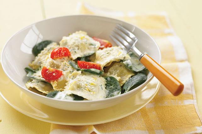 Ravioles con crema y espinacas Image 1