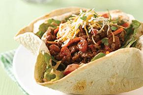 Ensalada en canastitas de tacos