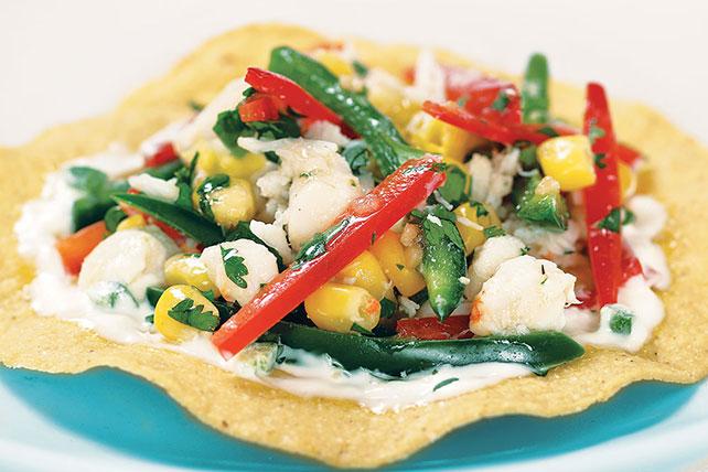 Crab Salad Tostada Image 1