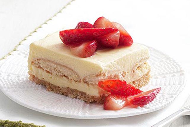 Cuadritos de pastel de fresa Image 1