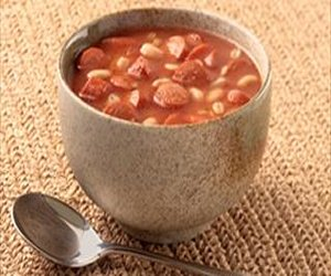 Barley and Bean Soup with Franks