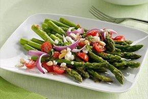 Asparagus, Tomato & Goat Cheese Salad