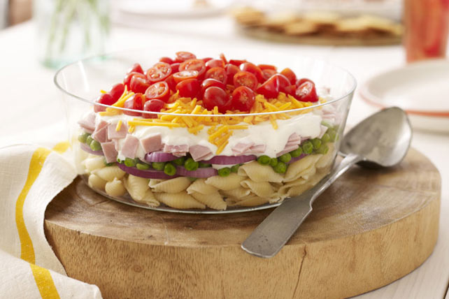 Layered Ham and Cheese Salad Image 1