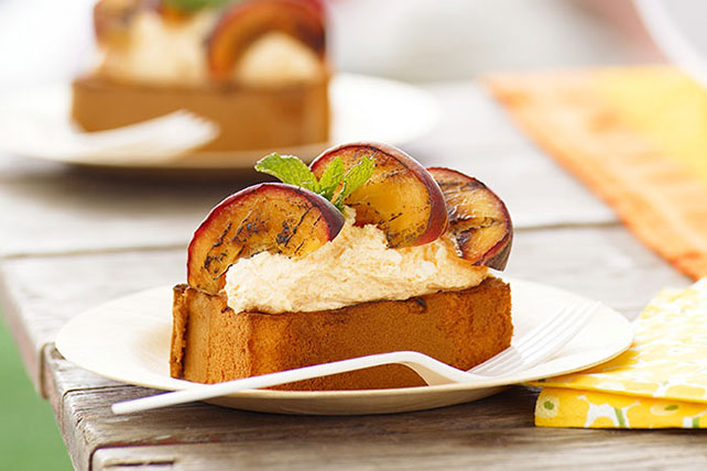 Grilled Peach Pound Cake