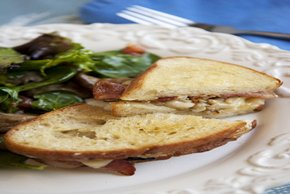 Mushroom-Bacon Grilled Cheese Sandwich Image 2