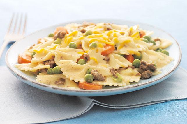Pasta con carne, vegetales y queso Image 1