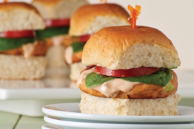 Mini Salmon Burgers Image 1
