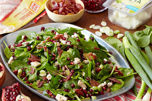 Spinach Feta Pomegranate Salad My Food And Family