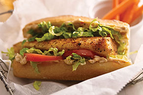 Blackened Tilapia Po' Boy