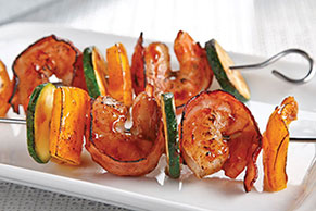 Bacon-Wrapped BBQ-Shrimp Kabobs