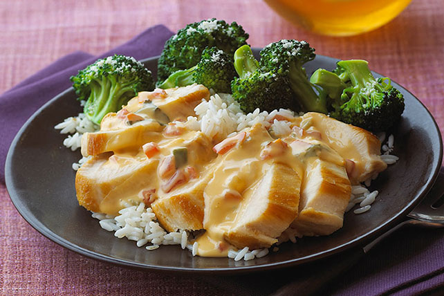 20-Minute Cheesy Chicken Rice Image 1