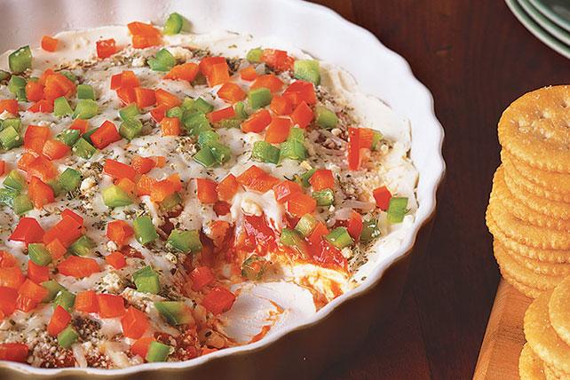 Dip de queso philly con sabor a pizza receta comida kraft for Platillos rapidos y economicos