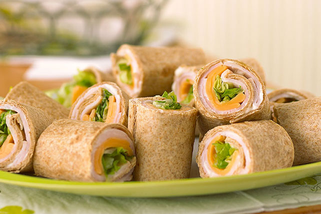 Easy Turkey-Tortilla Roll-Ups