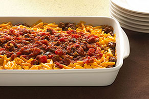 Easy Layered Taco Bake