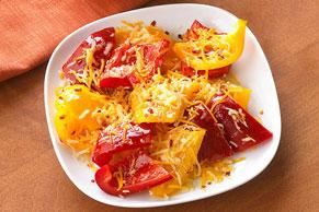 Bocaditos de nachos con pimientos