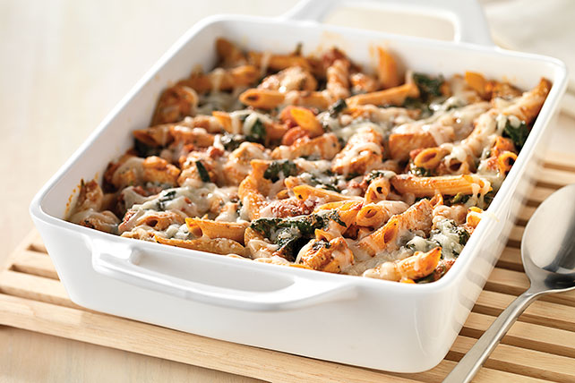 Three cheese chicken penne pasta bake kraft recipes forumfinder Choice Image