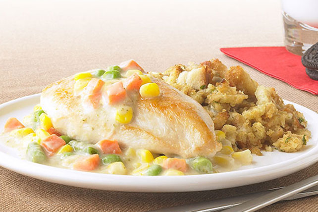 Creamy Chicken Skillet with Stuffing Image 1