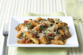 Three-Cheese Chicken-Penne Pasta Bake