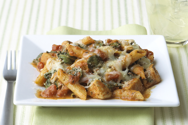 Three-Cheese Chicken-Penne Pasta Bake Image 1