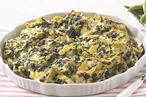 Trempette aux épinards, aux artichauts et au fromage