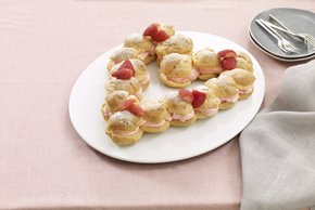 Strawberry Cream Puff Heart