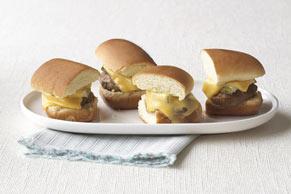Minihamburguesas con queso