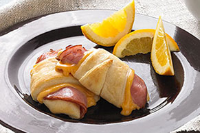 Hot Ham and Cheese Roll-Ups