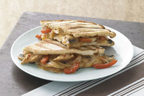 Warm Chicken and Cheese Panini