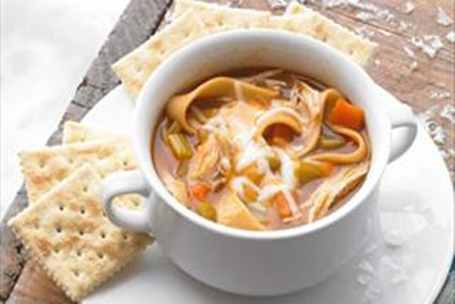 "BBQ ""Pulled"" Chicken Soup Image 1"