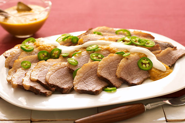Beef Brisket with Spicy Jalapeno Sauce