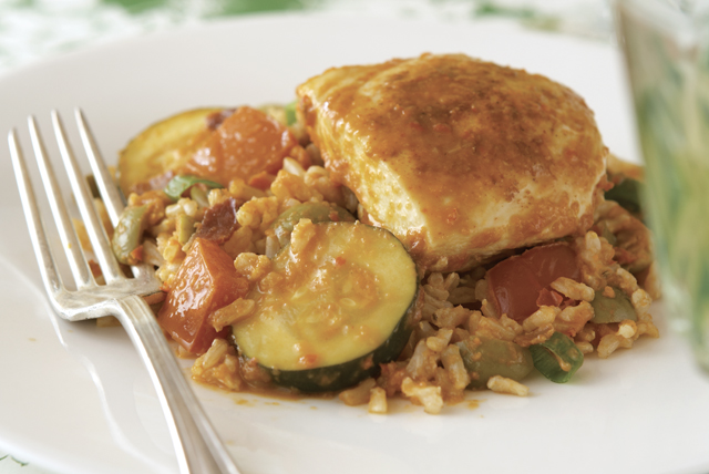 Chicken and Rice with Zucchini
