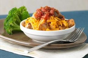 Chili Chicken Mac & Cheese