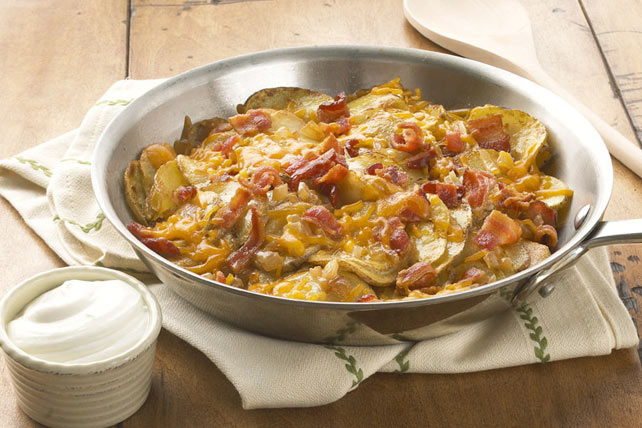Skillet Potatoes with Bacon & Cheddar Image 1