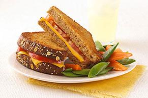 Sándwich tostado de queso para tu estilo de vida saludable