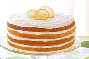 Pastel en capas al limón triple