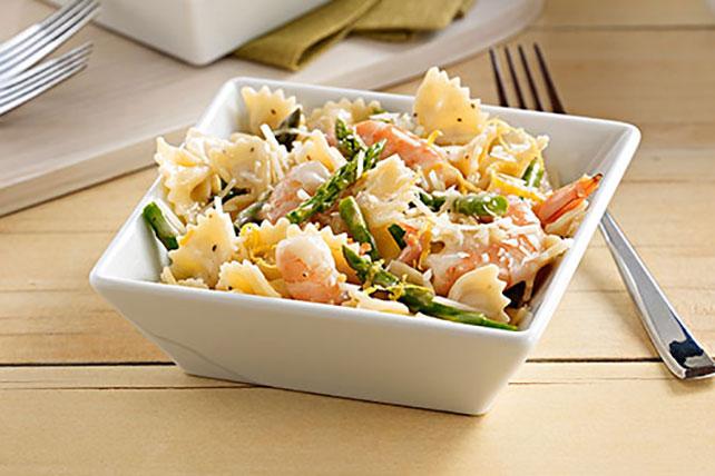 Caesar Shrimp & Asparagus Pasta Image 1