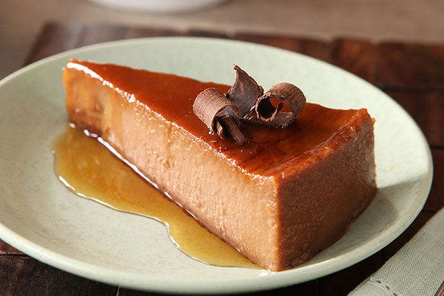 Chocolate-Orange Cream Cheese Flan
