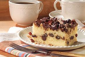 Pastel de canela con trocitos de chocolate