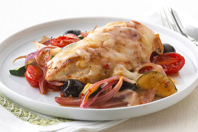 Pollo a la mediterránea con mozzarella Image 1