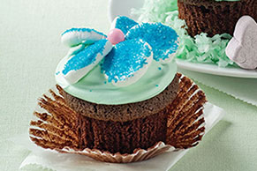 BAKER'S ONE BOWL Flower Cupcakes Recipe