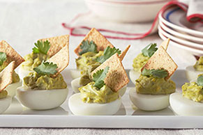 Creamy Guacamole-Stuffed Eggs