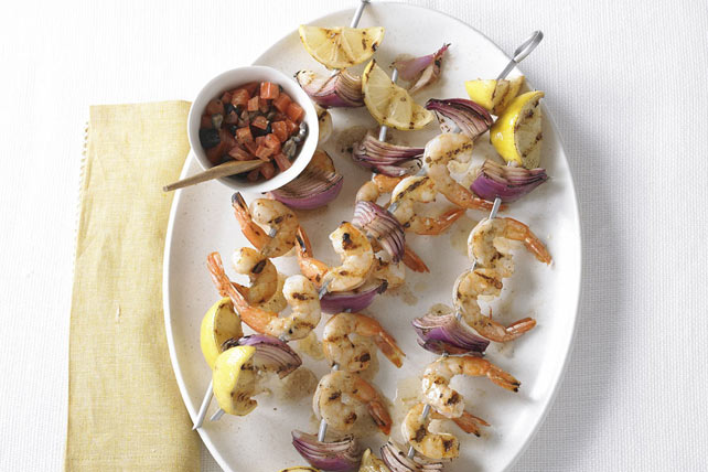 Shrimp Kabobs Olive Tomato Relish 113529 on oscar mayer select sausage