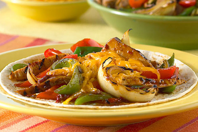 Grilled Orange Chipotle Pork Fajitas Recipe - Kraft Recipes