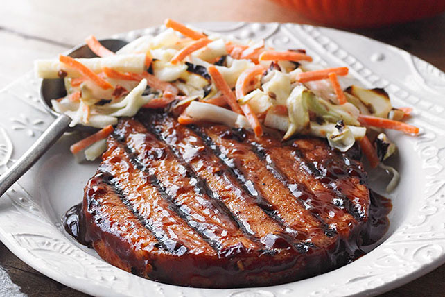 BBQ Smoked Pork Chops with Jicama Mixed Salad