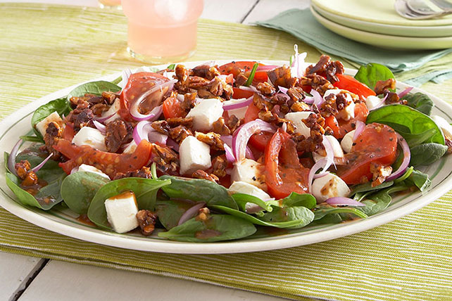Warm Spinach Salad with Tomatoes Image 1