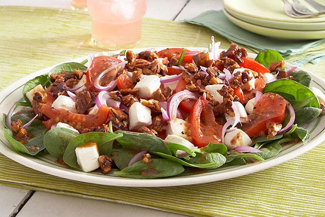 Ensalada caliente de espinacas con tomates receta comida - Cenas especiales para hacer en casa ...