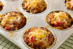 Cheesy Salsa-Mini Meatloaves
