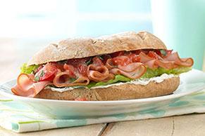 Bruschetta & Ham Sandwich