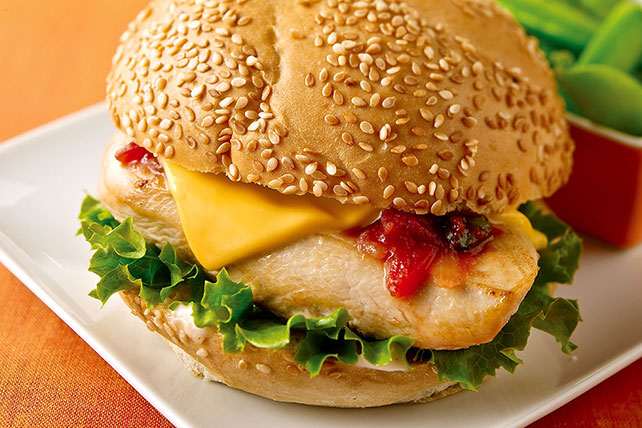 Cheesy Southwest Chicken Sandwiches Image 1