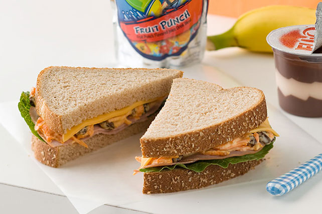 Creamy and Crunchy Ham Sandwich Image 1
